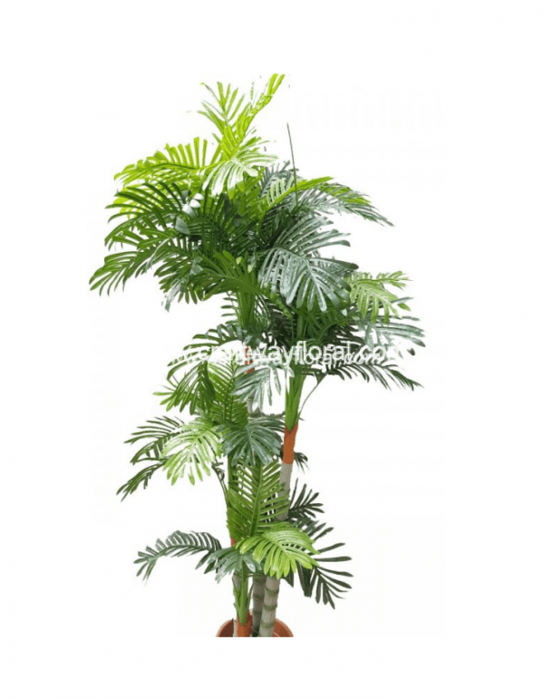 An image featuring high quality realistic faux areca palm plant H: ~6.5 Feet