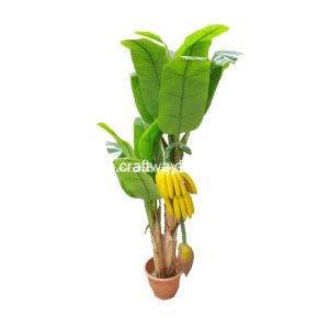 Picture features a realistic, high quality artificial banana plant. ~5.5 Feet high.