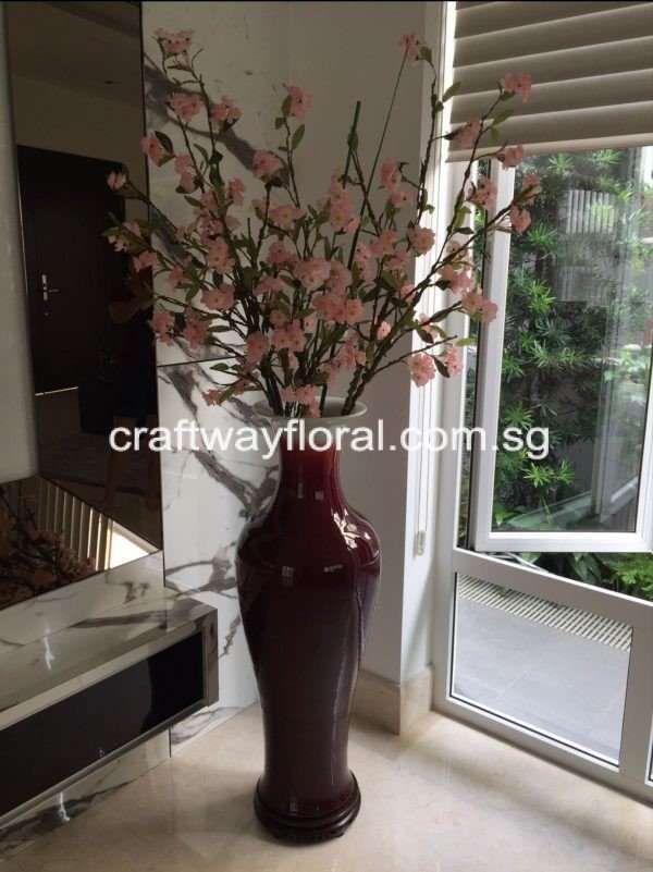 Artificial Pink Plum Blossom Arrangement