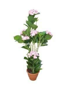 Artificial Pink Hydrangea Plant ~ 4 Feet