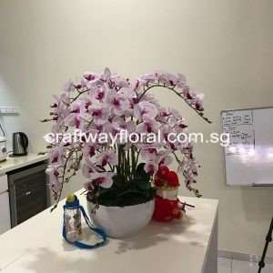 Artificial Spotted Purple Phalaenopsis Arrangement