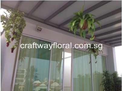 RoofTop Hanging Decor of various artificial plants