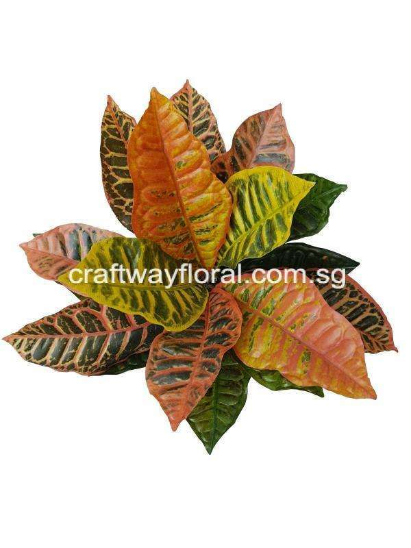 Artificial Croton Plant from top view