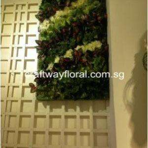 Green Wall Decor with mix artificial foilages