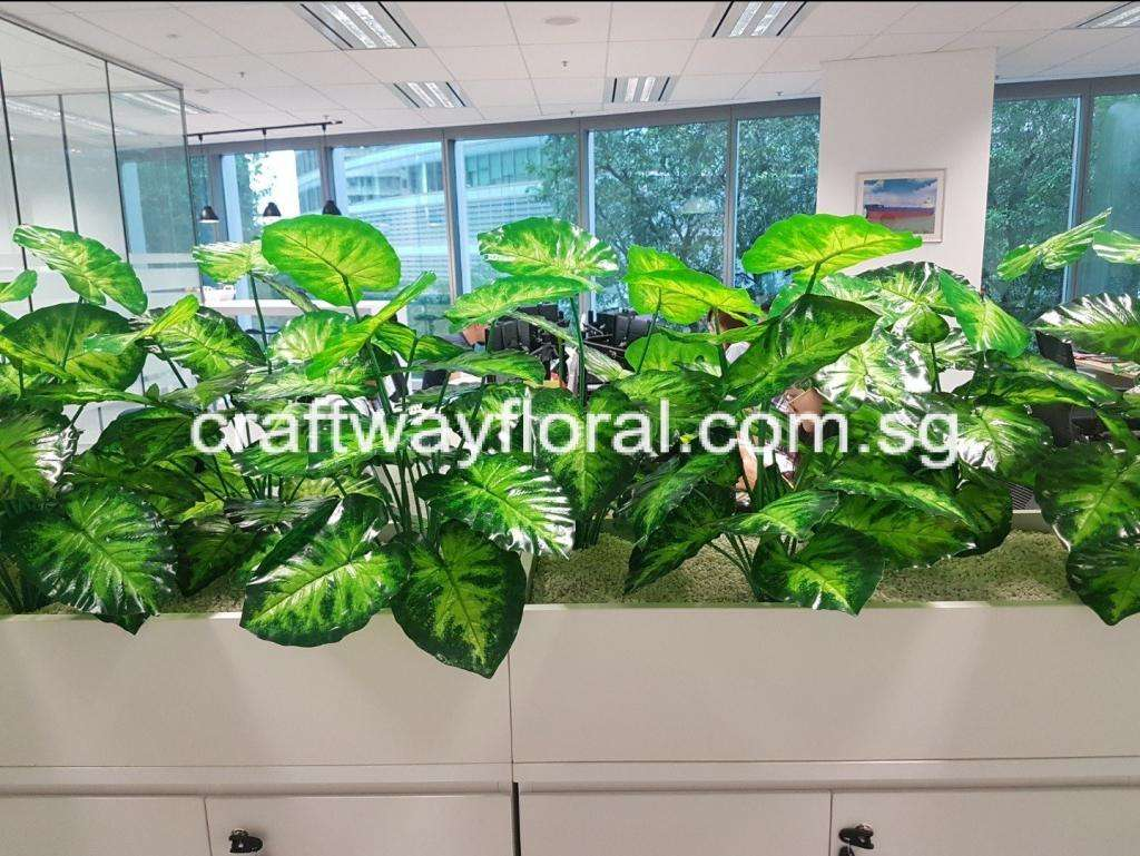 Office Planter Decor with artificial plants