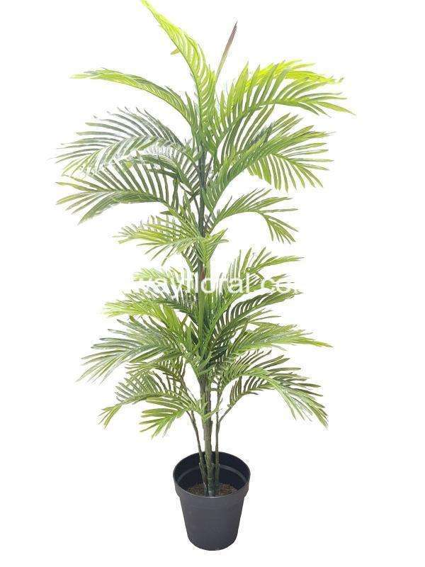 Yellow Palm is an evergreen plant with a crown of long feathered, fan-shaped leaves which symbolizes victory or triumph. This botanical brings resort-worthy style in the corner of the master suite.