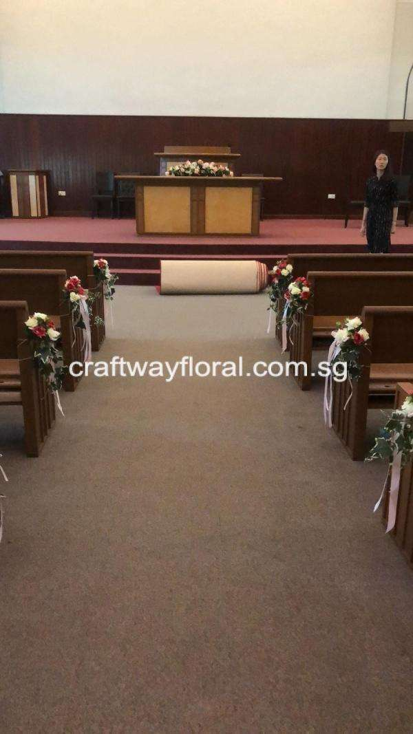 Church wedding aisle decor