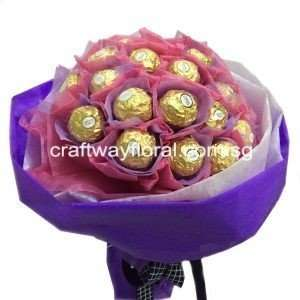 Not sure what to give your loved ones on that special day? Try giving this Ferrero Rocher Bouquet that is crafted with quality chocolate and confections that gives a unique taste experience that is widely loved and appreciated. Give her this bouquet of life's golden pleasures now!