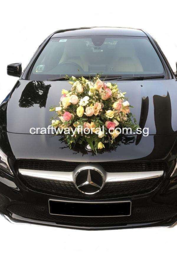Wedding Car Decorations available with fresh or artificial flowers.