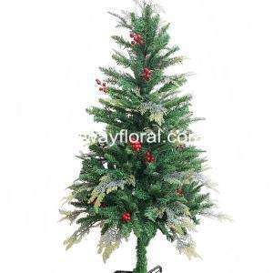The Artificial Cypress Christmas Tree is a heartwarming addition to your home this Christmas season.  A 3-part hinged construction makes for easy set up while the included metal stand keeps your tree fully supported and upright all season long. Create a magical Christmas this year with the addition of the lovely and magnificent Cypress Spruce Artificial Christmas Tree.