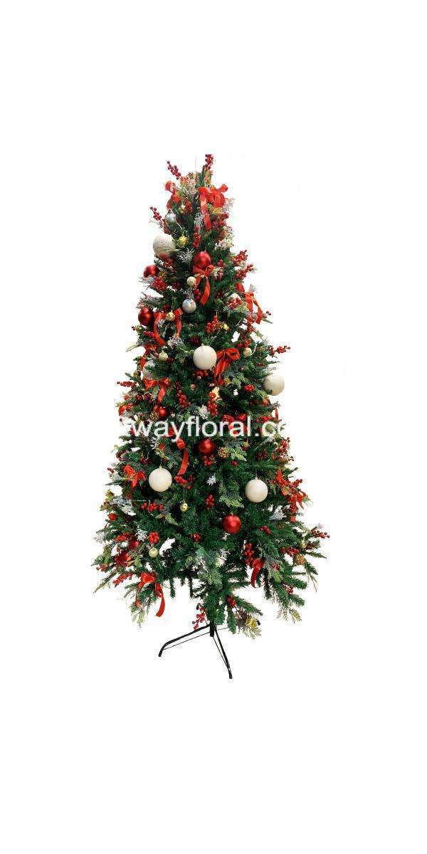 This Red/White Cypress Christmas Tree is a heartwarming addition which fills the space with energy, passion and love to your home this Christmas season.
