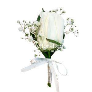 Order White Rose Corsage. Hand made gathered beautifully with exquisite ribbon.