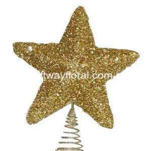 Star decor shape, very classical and conventional. Bring a rich warm glow to your Christmas tree. Perfect size. Wont fall easily, give you best spirit for Christmas day. Very sturdy and durable. Just fix it on the top or the side of tree, easy to install.