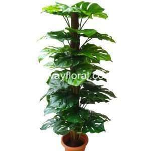 High quality artificial Monstera Plant 5 Feet with moss stick at the center.