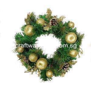Wreath with Gold Assortments 35cm