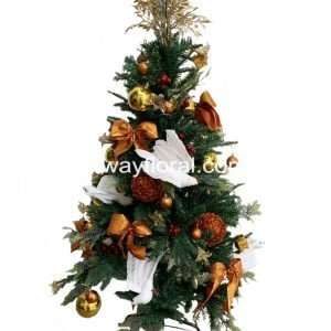 Bronze and white Christmas Tree usually represents humility, security and sturdiness. It creates a warm atmosphere to achieve a rustic environment.