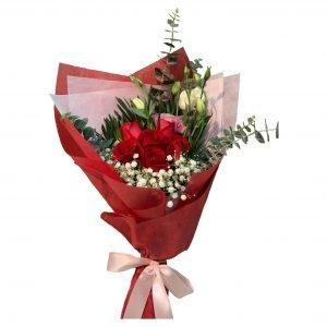 Happiness Bouquet of red roses
