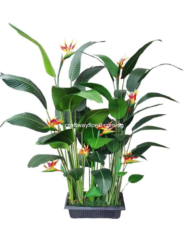 Artificial Bird of Paradise Planter Box