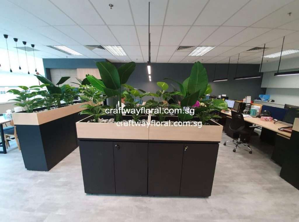 Artificial Bird Of Paradise with Moneyplant Planter