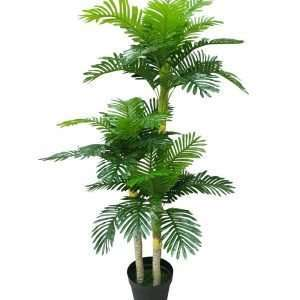 The Palm Tree is an evergreen plant with a crown of long feathered, fan-shaped leaves which symbolizes victory or triumph. This botanical brings resort-worthy style in the corner of the master suite.