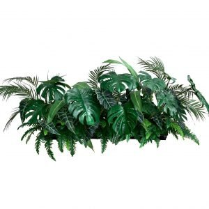 Artificial Monstera, Arrowhead & other foliage Table Planter