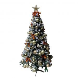 Champagne/Bronze 1.8m/6ft Flocked Christmas Tree CC0