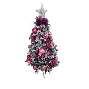 Pink/Purple 1.2m/4ft Flocked Christmas Tree ADE