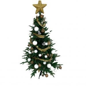 White/Gold 1.5m/5ft Sanford Fir BFH