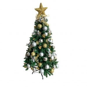 Gold/Silver 1.5m/5ft Montana Christmas Tree BCH