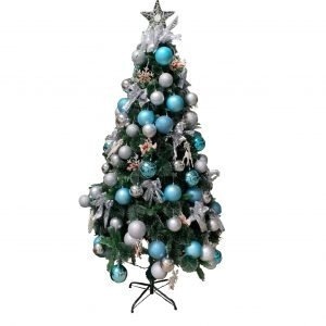 Light Blue/Silver 6ft/1.8m Artificial French Pine DEH