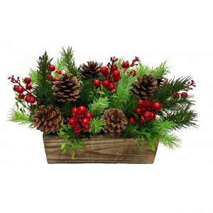 Red Berries & Acorn Arrangement 20cmH x 35cmW